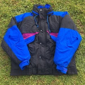 Vintage Colorblock Snow Jacket